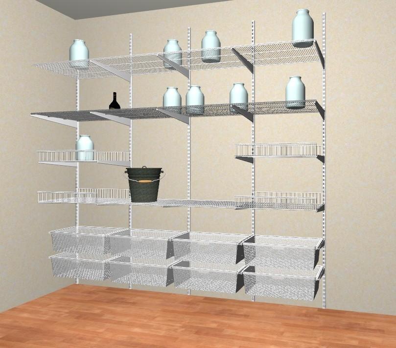 Стеллаж — это основная конструкция системы хранения вещей для кладовой