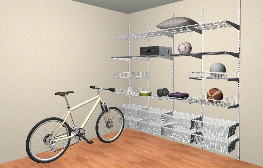 Основные места для размещения предметов в системе хранения детских вещей