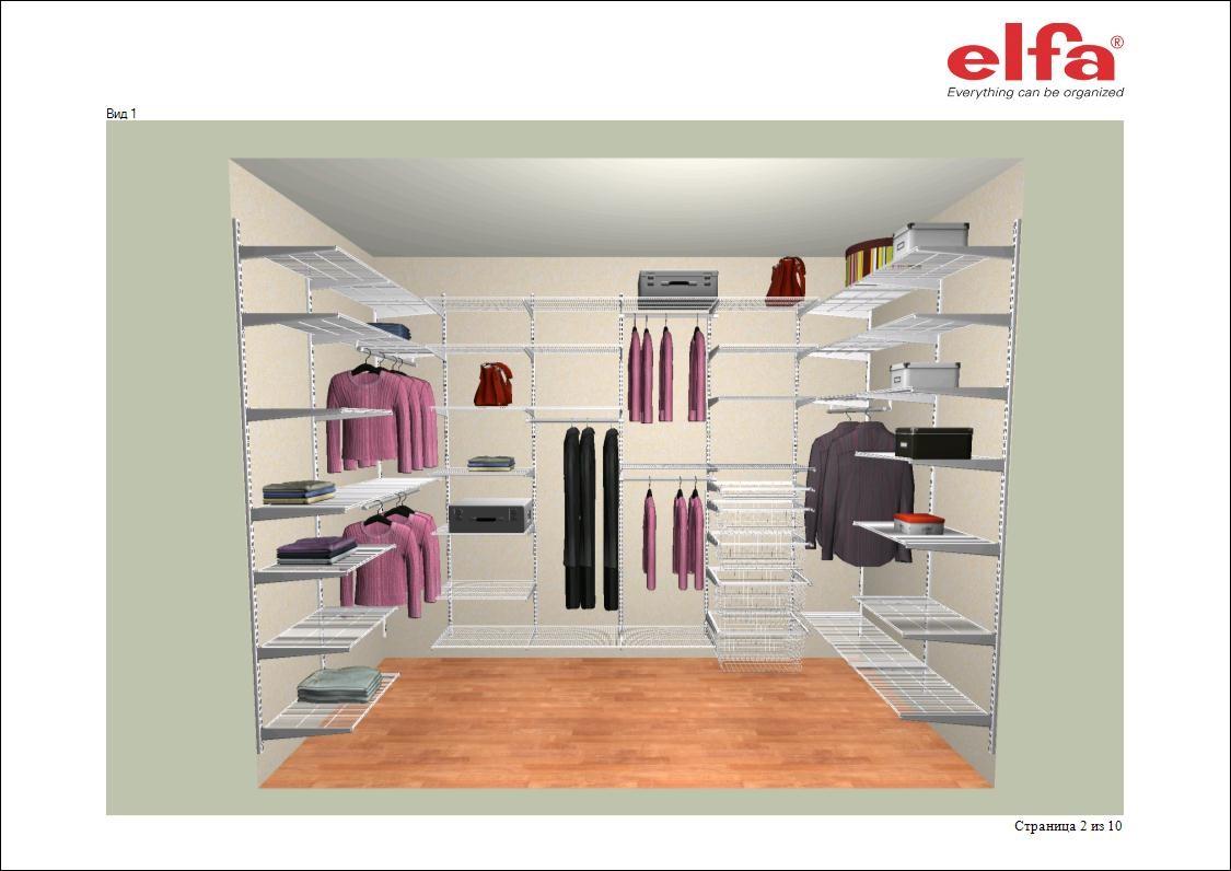 оптимальный размер гардеробной комнаты